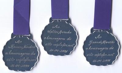Medalhas: verso