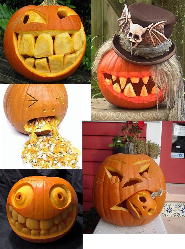Bajo otra luz halloween calabazas talladas - Disenos calabazas halloween ...