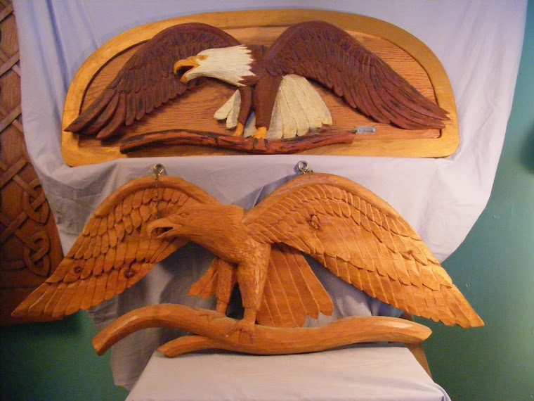 Carvings of Eagles