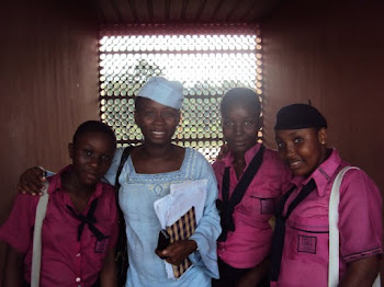 Tosin with some female Students