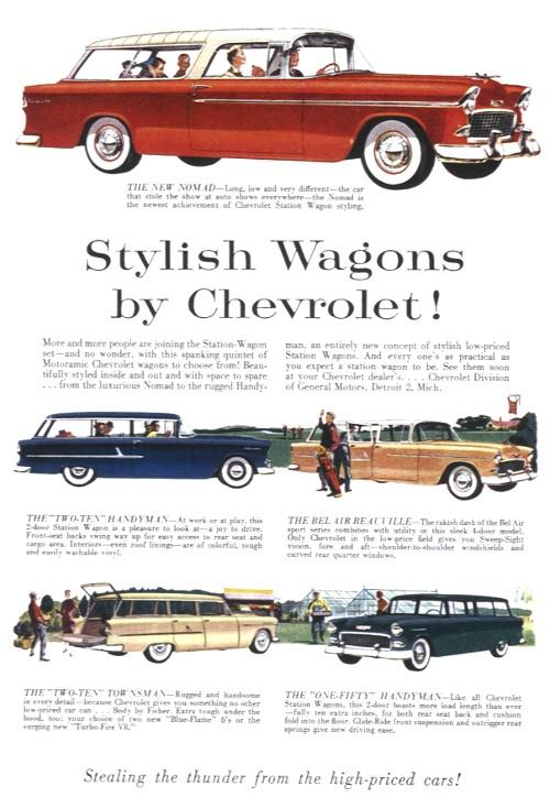 Chevrolet 1955 Station Wagon  bel air  FINI 1955-14