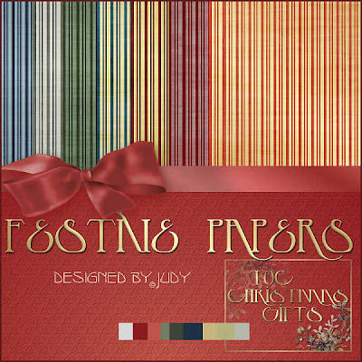 Festive Striped Papers from Judy Click to enlarge