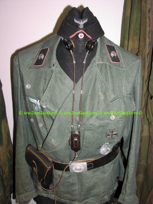 Panzerjacke Drillich Feldgrau