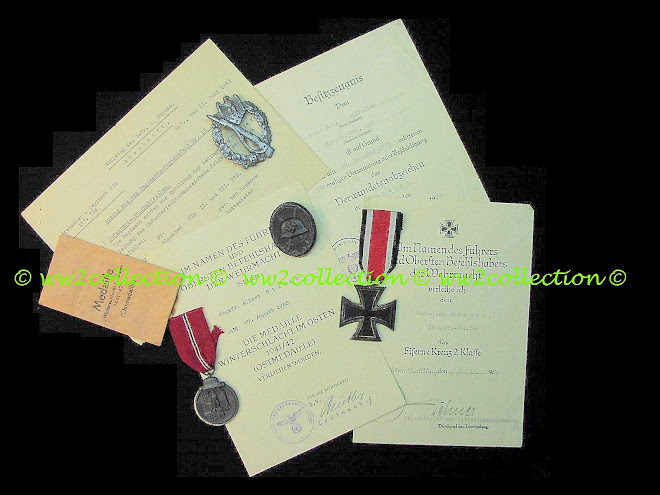 "WWII German Urkunden, Citation ""Gefrierfleisch Orden"" = Frozen Flesh Medal..... Ost Front"