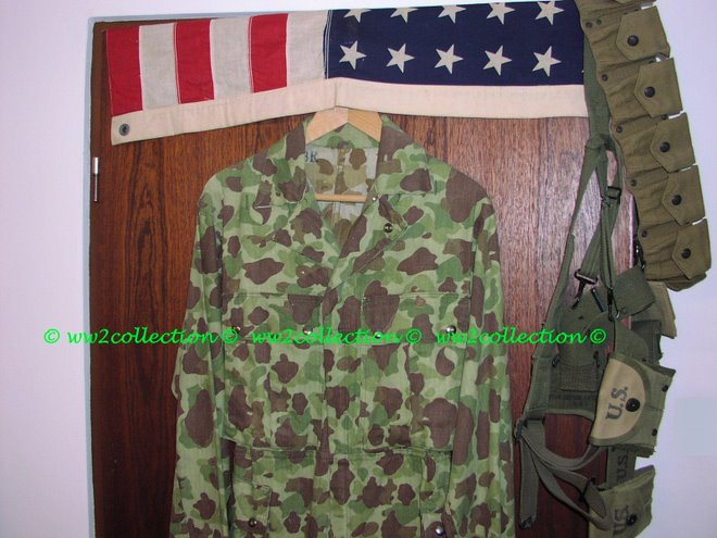WW2 US-Army and USMC camouflage one piece junge combat suit