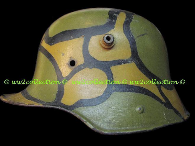 German WW1 Helmet Camouflaged