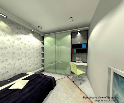 Bedroom on Perspective Drawing For Ms Wang Siau Woon  Amend Plan For Bedroom