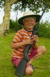 Outback Kid With Gun