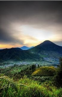 sunrise view at Dieng Plateau, Central Java, Indonesia