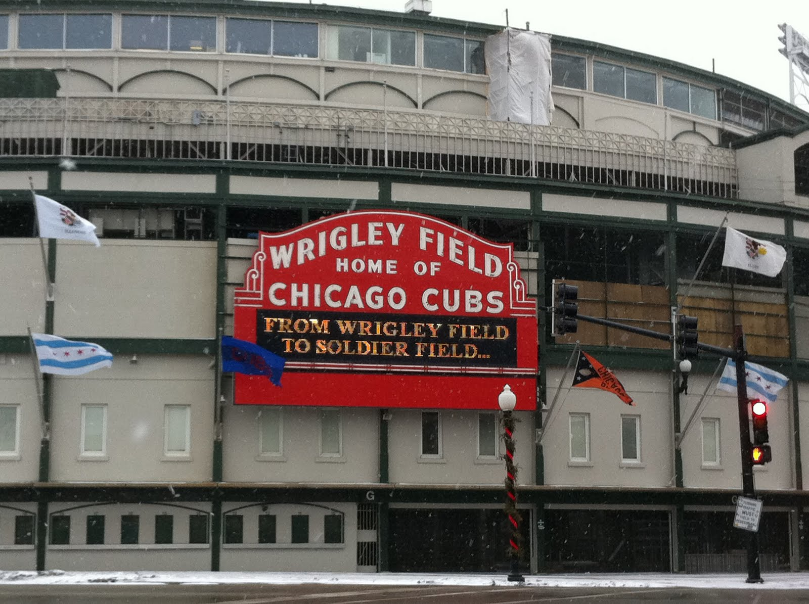 Bears at Wrigley Field Wrigley Field Marquee Bears