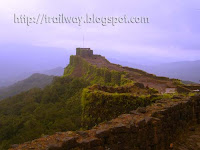 Historic Pratapgarh fort of Shivaji Maharaja kingdom in India