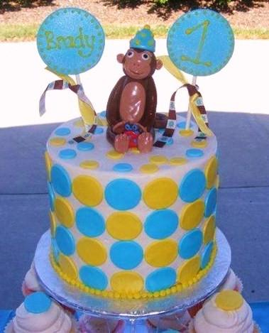 Taras Cupcakes 1st Birthday Monkey Theme Cake Cupcake Tower