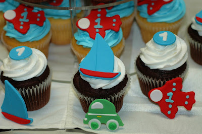 Taras Cupcakes Transportation Theme Cupcake Tower Airplanes