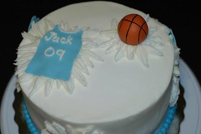 Taras Cupcakes NC Tarheel Basketball Cake