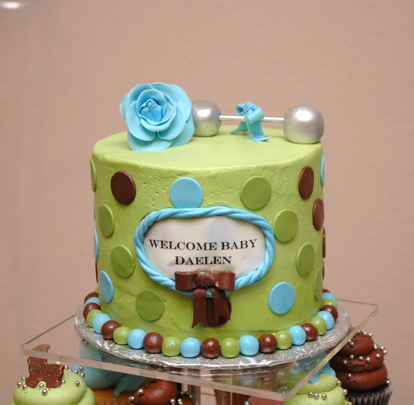 Tara s Cupcakes Baby Boy Baby Shower Tower