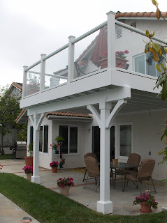 York design group balconies a deck upstairs and a covered patio below - Houses with covered balconies ...
