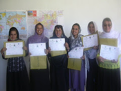 Women teachers in Panjshir