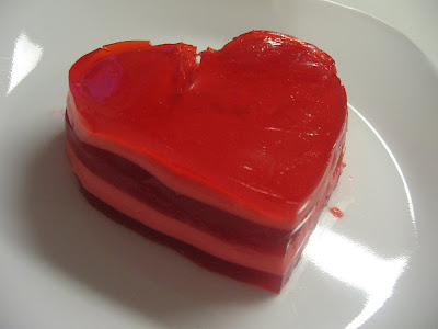 day jello hearts i just used the same concept as my 7 layer jello to ...