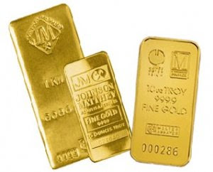 Modern Investment: Bullion Gold, Gold Bars, and Silver photo