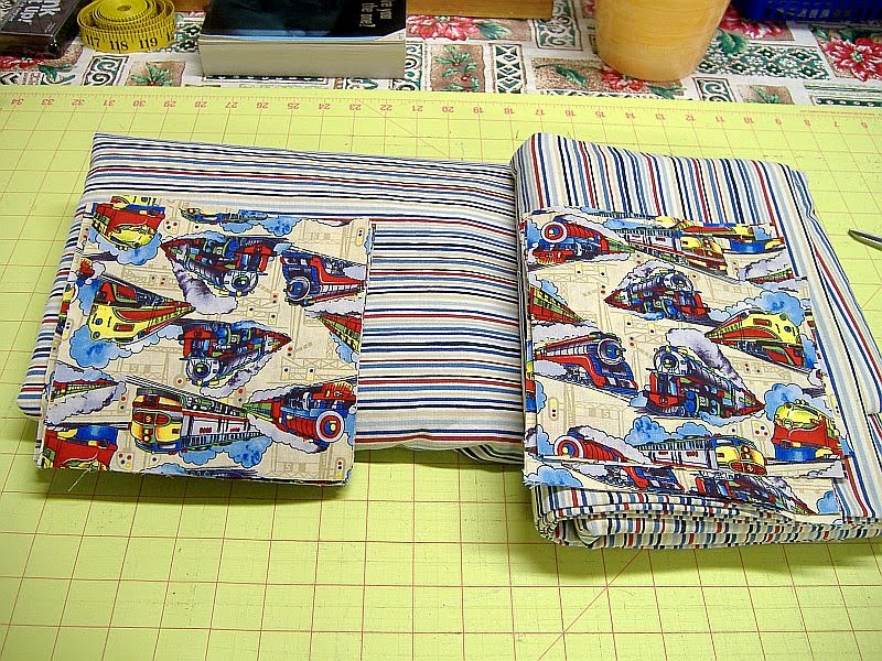 Sandra sews august 2010 for Train print fabric