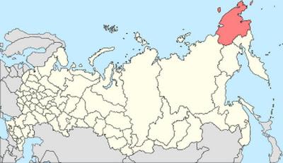 Чукотка на карте