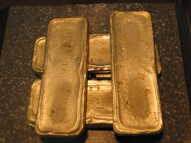 золото чукотки в слитках