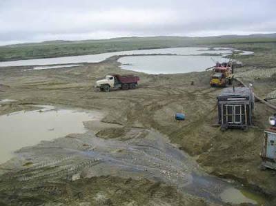 фотографии прииска Восточный 2008-вода для промывки золота