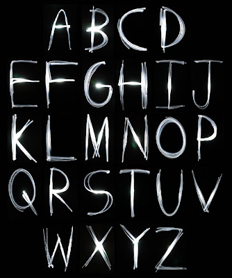 graffiti alphabet,alphabet light