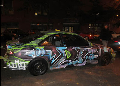 Beautiful Car Graffiti