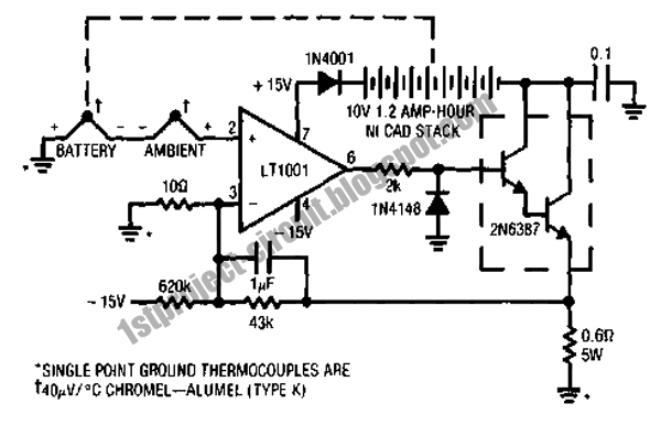 project circuit design  ni cad charger circuit with