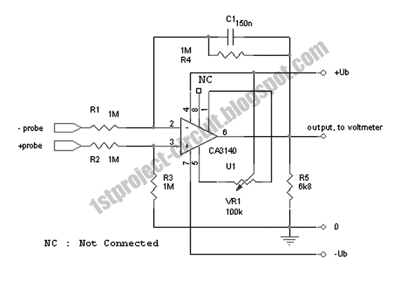 project circuit design  single input to differential input