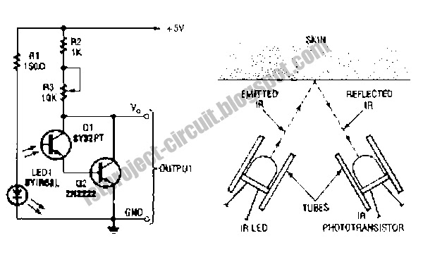 project circuit design  the heartbeat sensor  transducer  circuit