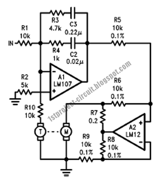 project circuit design  servo amplifier using lm12