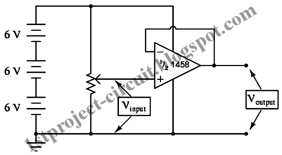 project circuit design  precision voltage follower circuit