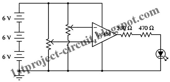 project circuit design  voltage comparator circuit