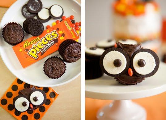 cute hoots Owl Cupcakes