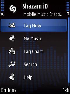Shazam ID music identifier Symbian S60 Nokia