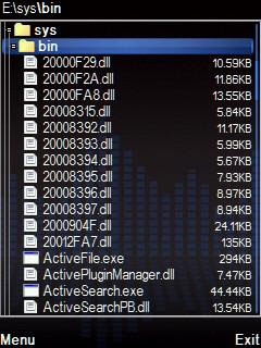 Symbian mobile phone file manager X-plore
