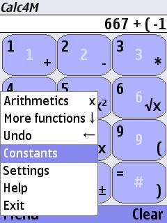 Calc4M calculator for mobile Java and Symbian