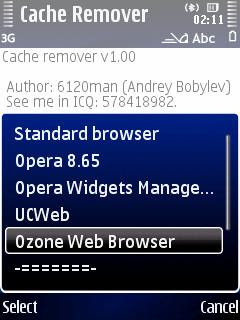 Symbian web browser cache cleaner Cache Remover, YouTube and RedTube mobile video downloader