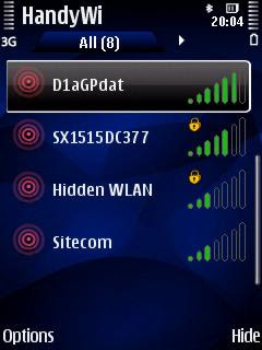 HandyWi Symbian S60 Wi-Fi hotspot finder