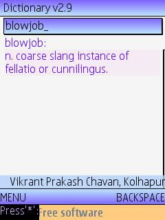 Dictionary by Vikrant P. Chavan, BabelDict online mobile phone dictionary