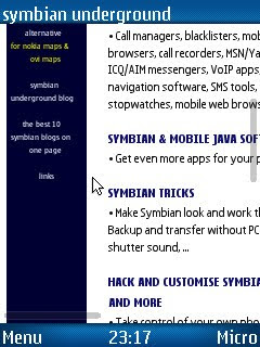 UC Browser, mobile phone web browser for Symbian