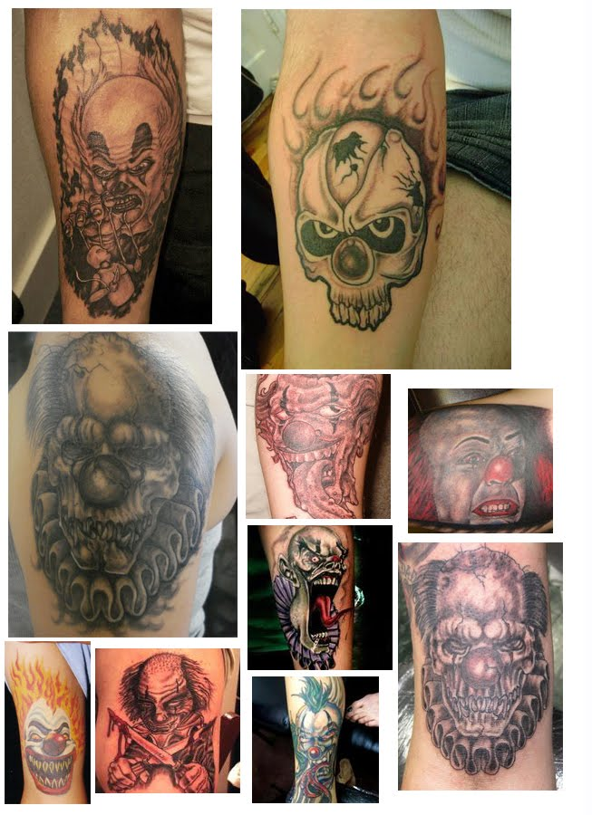 evil clown tattoos. evil clown tattoos. evil clown