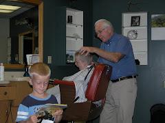 Last haircuts with Grandpa