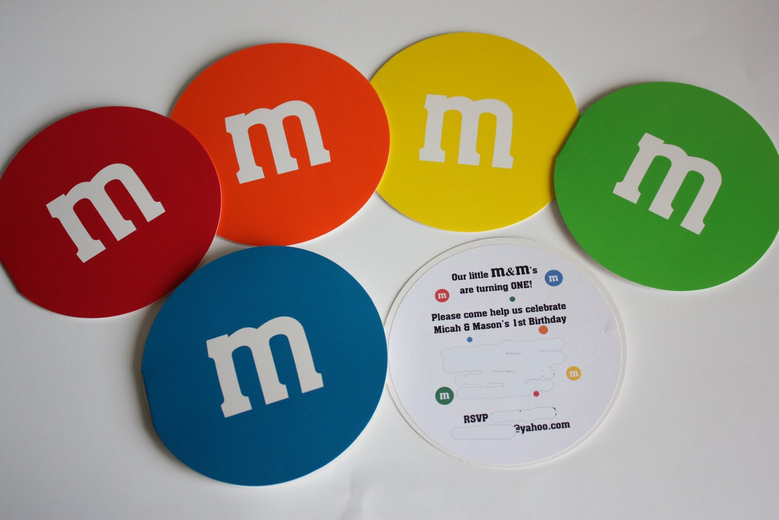 5M Creations: m&m Invitations