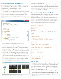 PCQuest Article on PHP Interoperability using Windows Azure
