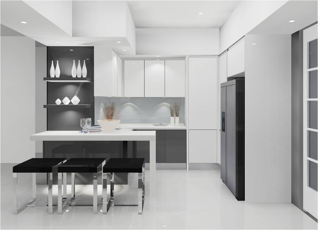 Meridian design kitchen cabinet and interior design blog malaysia a modern kitchen - Modern small kitchen decoration ...