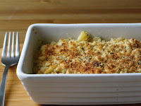 Cheezy Leek and Macaroni Gratin