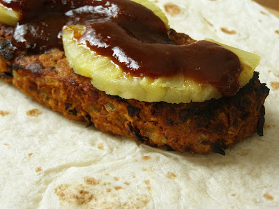Spicy Vegan Beanburger Wrap